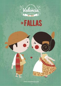 ilustracion Valencia fallas gallero illustration Spain