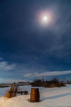 The Moon near Jupiter in the Winter Sky, January 21, 2013 by Astronomy Calgary, via Flickr