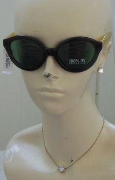 384f709cd1e NWT New Kate Spade Saturday Two-Tone Sunnies Moss Cat-Eye Sunglasses With  Case  KateSpadeSaturday  Square