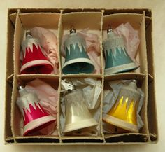 Early Mercury Glass Christmas Bells Ornaments  by MyHeirloomCharms, $40.00