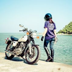 Sr500, Yamaha Motorcycles, Biker Girl, Japanese, Bikers, Vehicles, Girls, Instagram, Little Girls