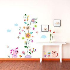 Wandtattoos Kinderzimmer Tiere Wandsticker Wandpuzzle Wandtattoo Retro  Tiere Mit Blumen Www4 Wandtattoos Kinderzimmer Tiere