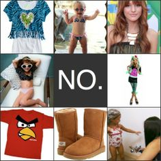 17 Kids Fashions we hope disappear by 2012.    Some of these are downright disgusting and I cannot believe a parent would let their child wear them.