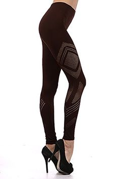 095490d37db83 World of Leggings Jagged Mesh Seamless Leggings - Brown at Amazon Women's  Clothing store: