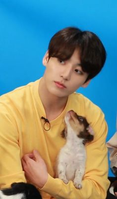 Im the puppy lookin at Jk. That pup was so lucky lets all envy the pup. Hahaha