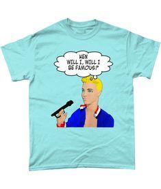 Funny, Gay, T-Shirt. Ken, Will I, Will I Be Famous! Bros! Ken Doll, LGBT!Sky,3XL #Gildan Ken Doll, Mardi Gras, Lgbt, Pride, Sky, Funny, Mens Tops, T Shirt, Fashion