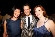 Navy dresses & checkered suits at the #CannesLions closing gala.