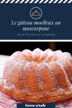 Quick and easy: the recipe for a soft mascarpone cake - Lombn Sites Flan Dessert, Mascarpone Cake, Almond Nut, Steamed Tofu, Mango Syrup, Poached Apples, Chiffon Cake, Energy Snacks, Banana Split