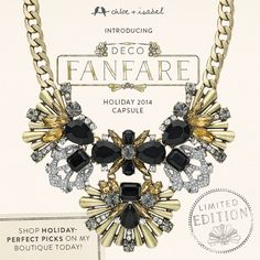 Shop holiday-perfect picks at my boutique today! www.chloeandisabel.com/boutique/ashlynmilosch  Holiday Capsule!!