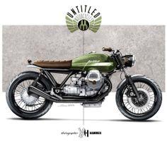 Olive Green custom bike mockup - Untitled Motorcycles