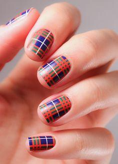 Ahhhh! Tartan nail wraps