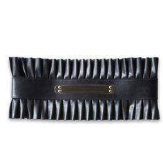 bebe Metal Plate Ruffle Belt ($49) ❤ liked on Polyvore featuring accessories, belts, metal belt, bebe belt and bebe