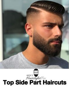 How To Get The Perfect Side Parting: 19 Best Side Part Haircuts - Men's Hairstyles - men - Side Part Haircut, Side Part Hairstyles, Hairstyles Haircuts, Mens Side Haircut, Beard Styles For Men, Hair And Beard Styles, Short Hair Styles, Barber Haircuts, Haircuts For Men