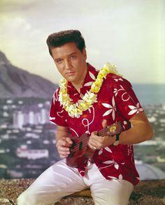 Elvis Presley for Ukulele Film Blue, Al Pacino, Appropriation Culturelle, Elvis Presley Blue Hawaii, Rock And Roll, Elvis Presley Graceland, Hawaii Vacation Rentals, Fire Dragon, Photo Blue
