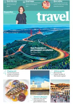 The Guardian redesign — New Travel section front cover