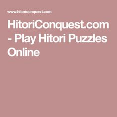HitoriConquest.com - Play Hitori Puzzles Online