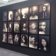 Installation from The Camera is God (street portrait series) from Paris Photo, Stills Gallery Stand, 2014