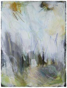 "Ellen Levine Dodd - ""Cove Fog 3"" - 22"" x 30"" - acrylic mixed media on cotton rag paper - available at Anne Neilson Fine Art"