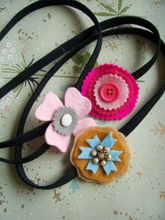 WhiMSy love: Felt & Button Elastic Headband Tutorial