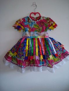 Lindo vestido de Festa Junina! Baby Girl Dresses, Baby Dress, Barbie, Party Fashion, Toddler Outfits, Tutu, Preppy, Harajuku, Photoshoot