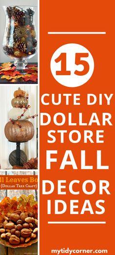 Easy Fall Wreaths, Easy Fall Crafts, Fall Diy, Diy Crafts, Dollar Tree Fall, Dollar Tree Decor, Dollar Tree Crafts, Dollar Store Halloween, Dollar Tree Halloween Decor