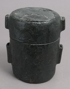 Case for a cup, 15th century, Italian or French, Cuir bouilli (tooled leather)