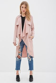 5 Perfect Summer Outfit Ideas - Longline Draped Open-Front Jacket, $49.90; at Forever 21