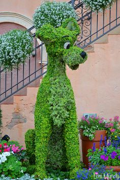 Topiary of Disney's Tramp