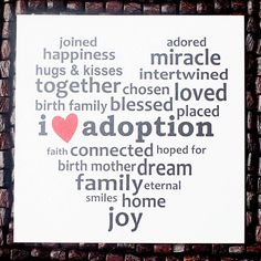 I love #adoption. (From www.therhouse.etsy.com)