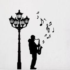 Ein Straßenmusiker mit Saxophon