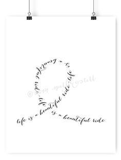 la vie est une belle balade impression / / par spellandtell sur Etsy