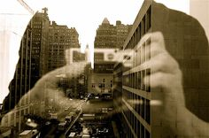 Monochromatic reflections.   Looking east . L1012496.JPG by Susan NYC, via Flickr