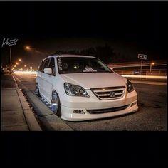 Odyssey Honda Van, Mini Vans, Bad Azz, Honda Odyssey, Custom Vans, Jdm Cars, Slammed, Van Life, Subaru