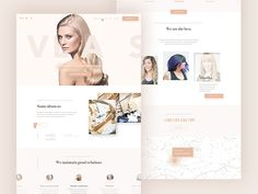 Hairdresser Landing Page Template - PSD Freebie