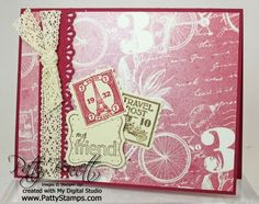 hybrid MDS card - love the Postage Due set!! using My Digital Studio from Stampin Up