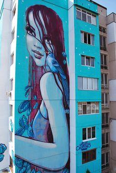 "by Er'Naste Nasimo - New wall: ""The art of giving"" - for Urban Creatures 2014 - Sofia, Bulgaria - 03.09.2014"