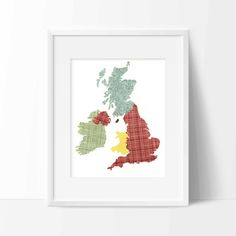 Great Britain & Ireland Map Print {Digital} by Whitehall Shop on Etsy