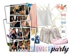 """""""Slumber Party!♥"""" by michii8 ❤ liked on Polyvore featuring Lucky Brand, Chicwish, Decree, Dorothy Perkins, Melissa McCarthy Seven7, NLY Accessories, Tempur-Pedic, Deborah Lippmann and plus size clothing"""