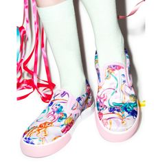 d9207bffbbcdef Iron Fist My Little Pony Merry Go Round Slip On Sneakers ( 77) ❤ liked