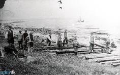 arkiv.dk | Skibsforlis ved Ebbeløkke Bakke - 1920