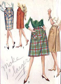1960s Misses Wrap Around Skirt Vintage Sewing by MissBettysAttic, $8.00