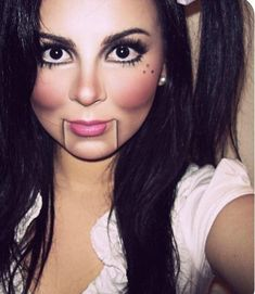 Doll Makeup Idea #halloweenmakeupideas