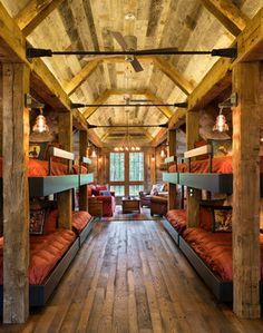 oh my god…….Northern Wisconsin Bunk House - rustic - Bedroom - Minneapolis - John Kraemer & Sons