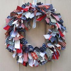 Patriotic Wreath Patriotic Decor Memorial Day by AWorkofHeartSA, $75.00