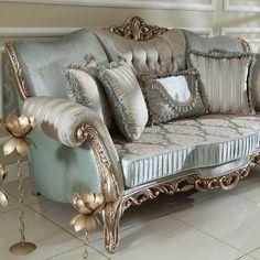 Living Room Sofa Design, Living Room Sets, Living Room Chairs, Living Room Designs, Living Room Decor, Italian Furniture Design, Classic Furniture, King Furniture, Luxury Furniture