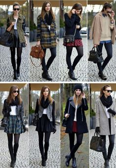 Wouldn't do most of these looks verbatim (would probably) want more waist definition, different necklines, etc). But a nice set of examples of some of… – Shorts Mode Outfits, Fashion Outfits, Womens Fashion, Fall Winter Outfits, Autumn Winter Fashion, Fashion Fashion, Teenager Fashion Trends, Look Star, Business Casual Outfits