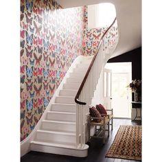 Osbourne and Little butterfly house wallpaper