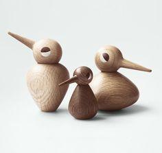 Dekorative Vögel Aus Holz Nach Dem Entwurf Von Kristian Vedel ✓Holzfigur  Als Vogel In Klein, Groß Und Rund ✓dänisches Design ✓versandkostenfrei