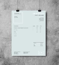 Photography invoice template | Photography receipt | MS Word and Photoshop template | sleek invoice design