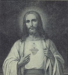 vintage postcard jesus christ sacred heart photo antique greeting card painting